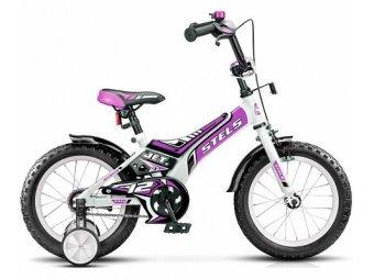 Детский велосипед STELS Jet 12 (2017) белый/фиолетовый/чёрный
