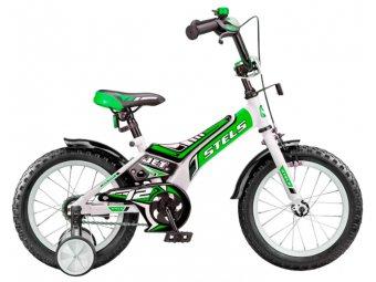 Детский велосипед STELS Jet 12 (2017) белый/зеленый/чёрный