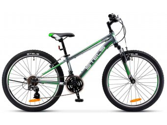 Подростковый велосипед STELS Navigator 400 V 24 V030 (2017) серый/зеленый/белый