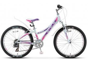 Подростковый велосипед STELS Navigator 430 V 24 V020 (2018) белый/пурпур./красный