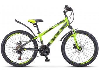 Подростковый велосипед STELS Navigator 450 MD 24 V010 (2018) лайм/черный