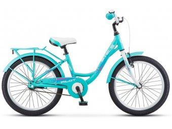 Подростковый велосипед STELS Pilot 220 Lady 20 V010 (2018) AL-рама, 1-ск бирюзовый