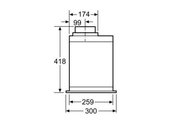 Встраиваемая вытяжка Bosch DHL 575 C 50 IX
