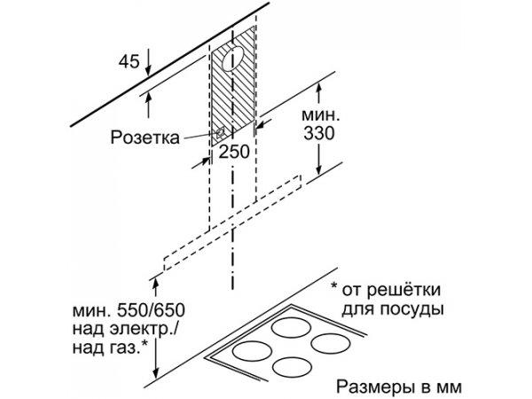 Вытяжка Bosch DWB66BC50