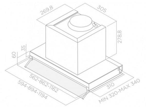 Вытяжка Elica Boxin PLUS IXGL/A/120