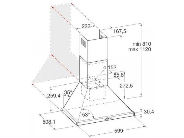 Вытяжка Hotpoint/Ariston HHPN 6.5F LM AN