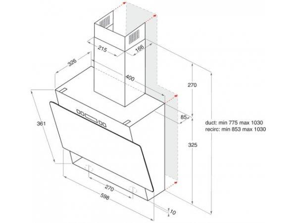 Вытяжка Hotpoint/Ariston RU HHVP 6.4 LL K