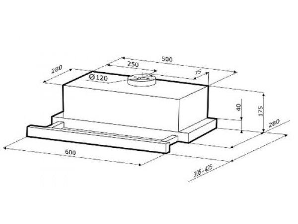 Вытяжка Krona Kamilla Sensor 600 Inox