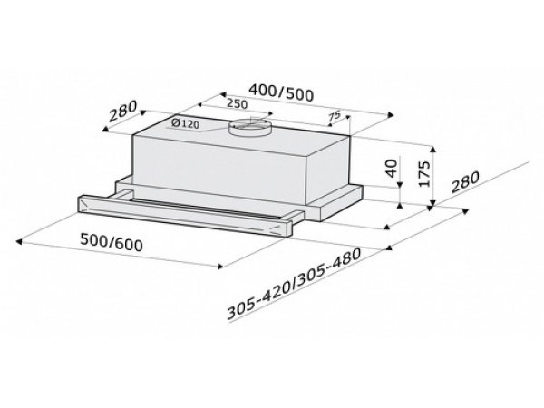 Вытяжка Krona Kamilla Sensor 600 White